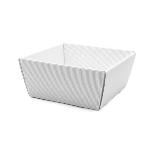 Koszyk na prezenty W17 biały, 19 x 19cm