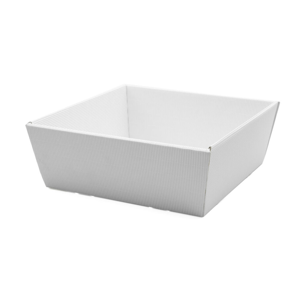 Koszyk na prezenty W18 biały, 25 x 25cm