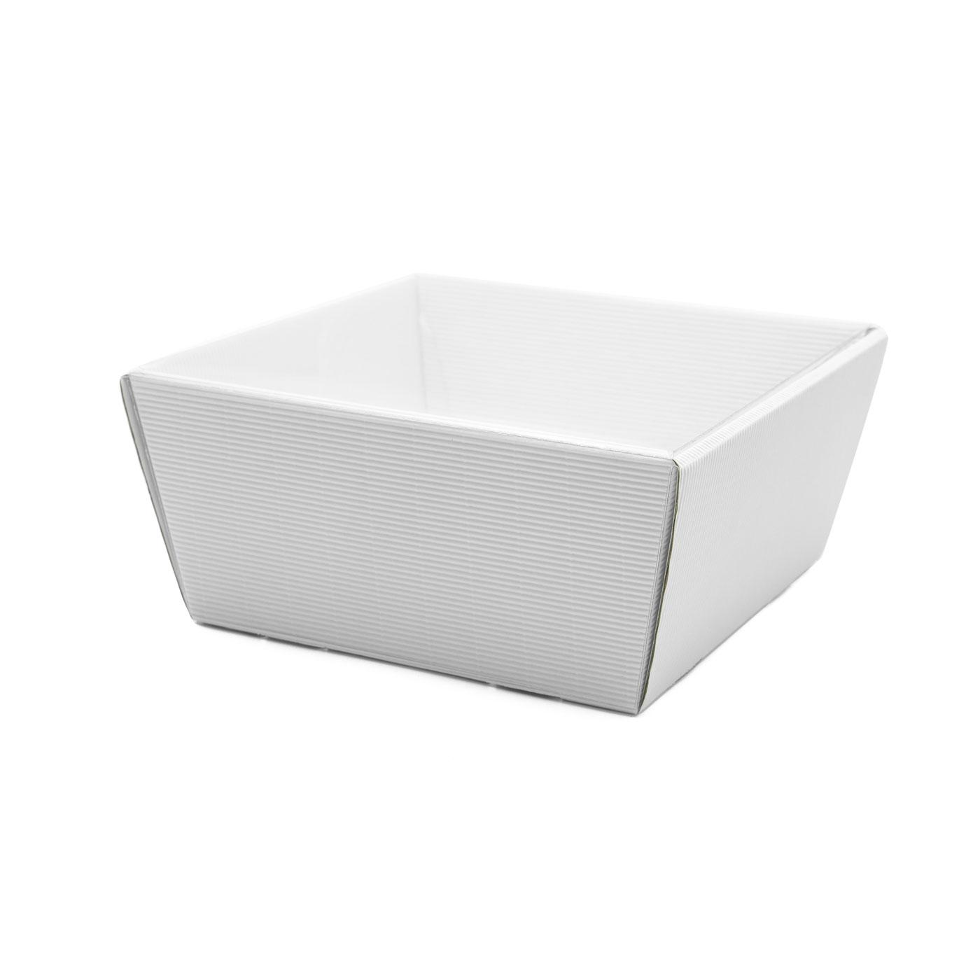 Koszyk na prezenty z przykryciem W17 biały, 19 x 19cm