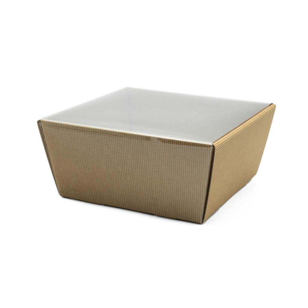 Koszyk na prezenty z przykryciem W17 eco, 19 x 19cm