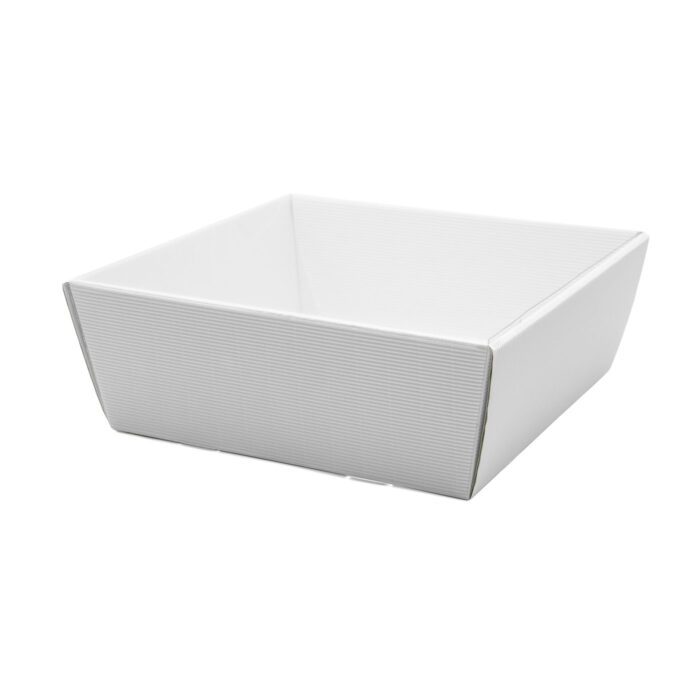 Koszyk na prezenty z przykryciem W18 biały, 25 x 25cm