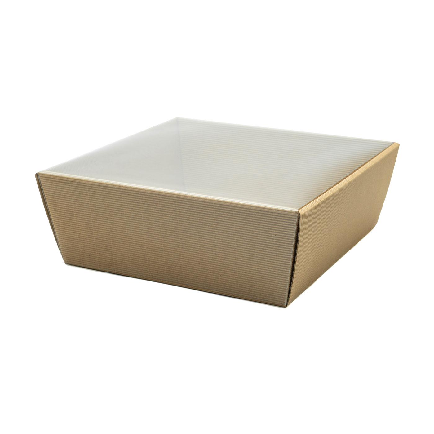 Koszyk na prezenty z przykryciem W18 eco, 25 x 25cm
