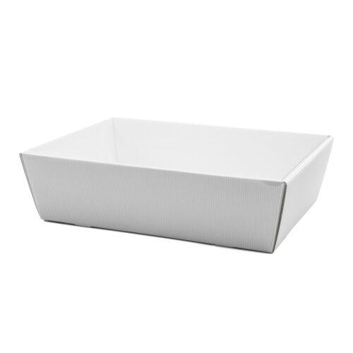 Koszyk na prezenty z przykryciem W19 biały, 24 x 34cm